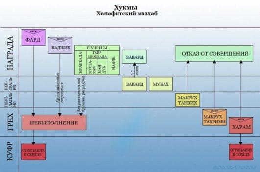Виды шариатских решений в ханафитском мазхабе